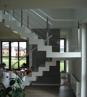 Balustrada Drewniano Stalowe