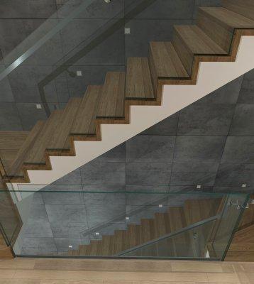 P Waszczuk - wiodk na piętrze szyby w listwie