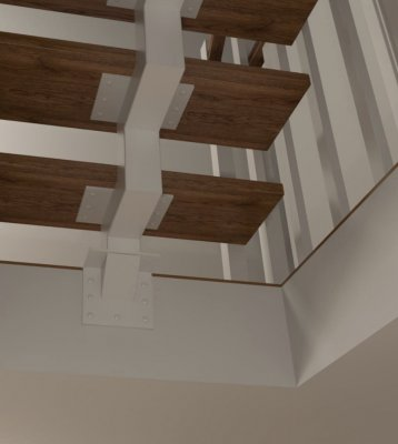 jednobelkowe wid 8 mocowanie schodow