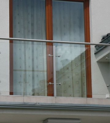 Balustrada Szklana w ramie