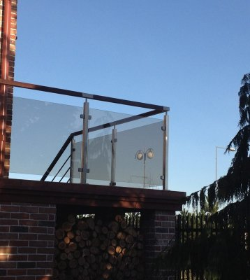 Balustrady zewnętrzne Szklane